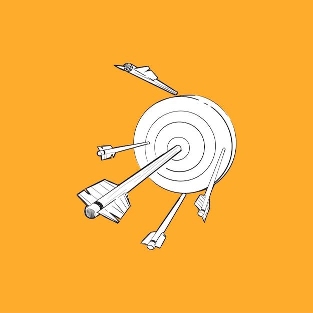 Hand tekening illustratie van succesvolle concept Gratis Vector