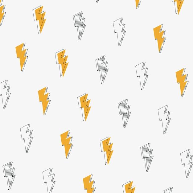 Hand trekt stralen doodles achtergrond Premium Vector