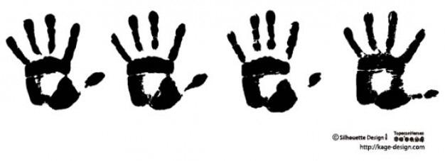 Handafdrukken 2 Gratis Vector