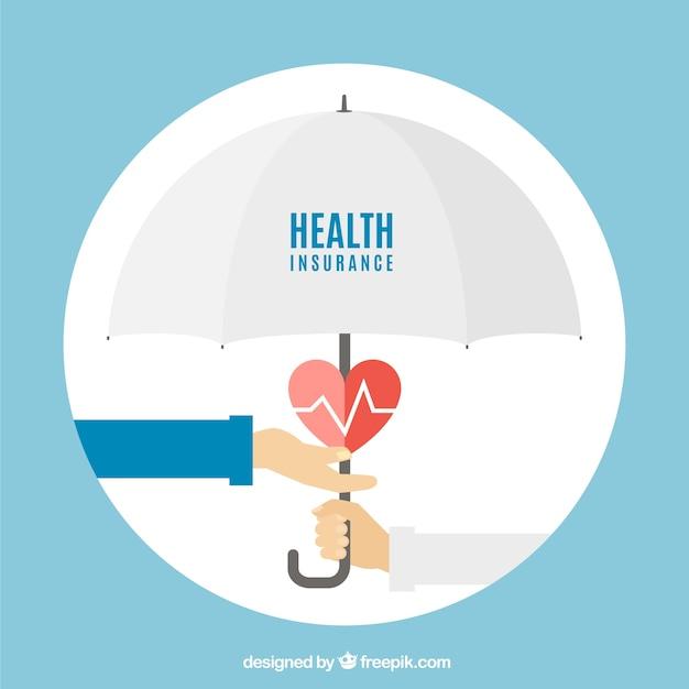 Handen, hart en paraplu Gratis Vector