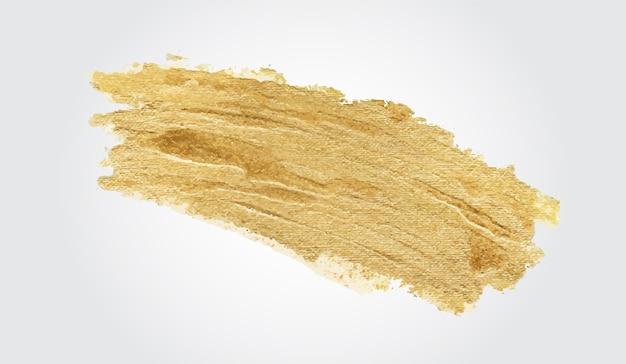 Handgemaakte gouden penseelstreek Gratis Vector