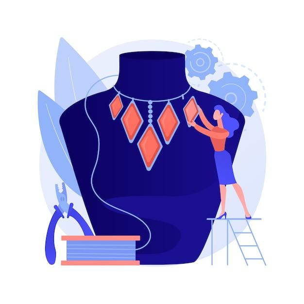 Handgemaakte sieraden abstract concept Gratis Vector