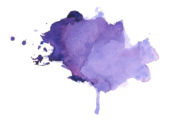 Handgeschilderde aquarel vlek textuur achtergrond Gratis Vector