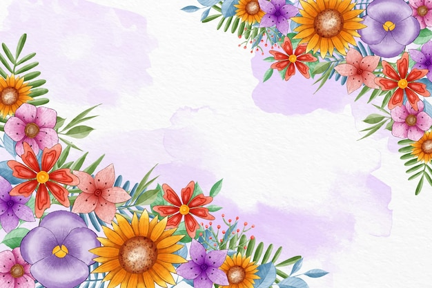 Handgeschilderde lente achtergrond Premium Vector