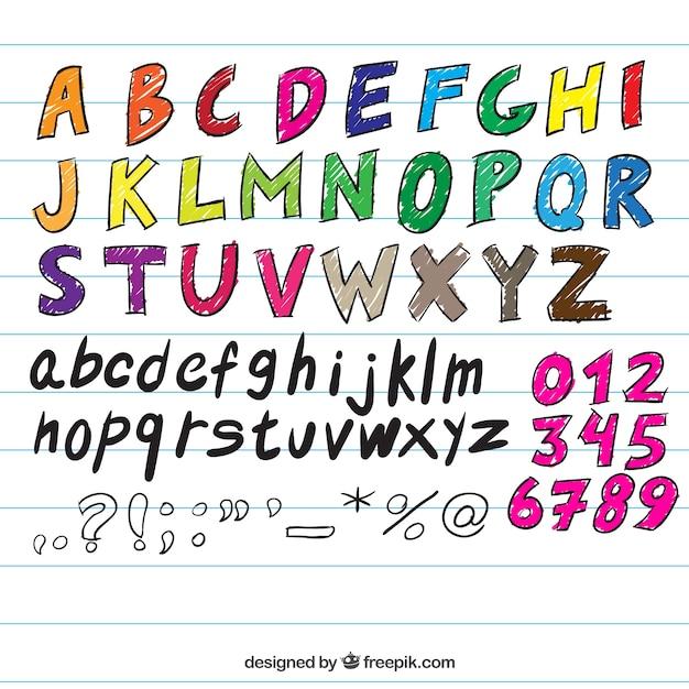 Handgeschreven typografie Gratis Vector