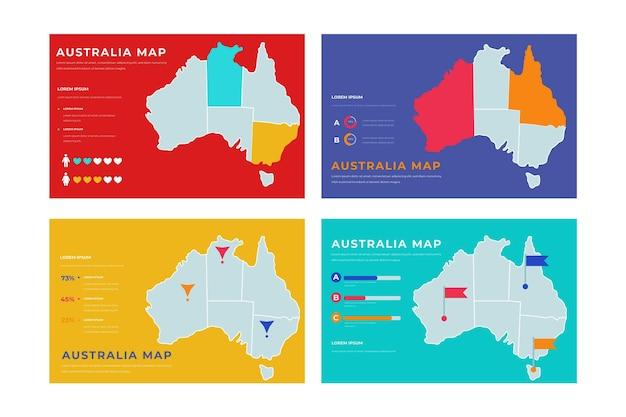 Handgetekende australië kaart infographic Gratis Vector