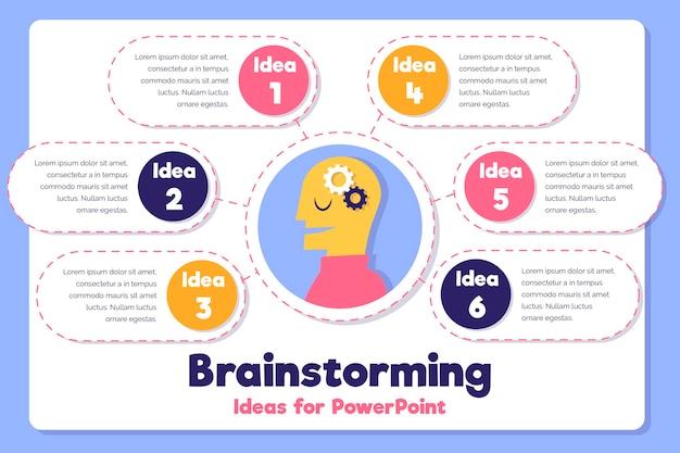 Handgetekende ontwerp brainstormen infographics Gratis Vector