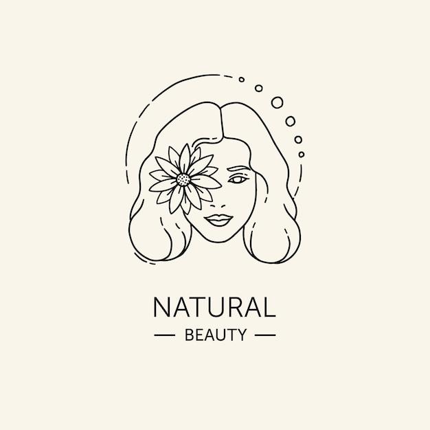 Handgetekende vrouw logo sjabloon Gratis Vector