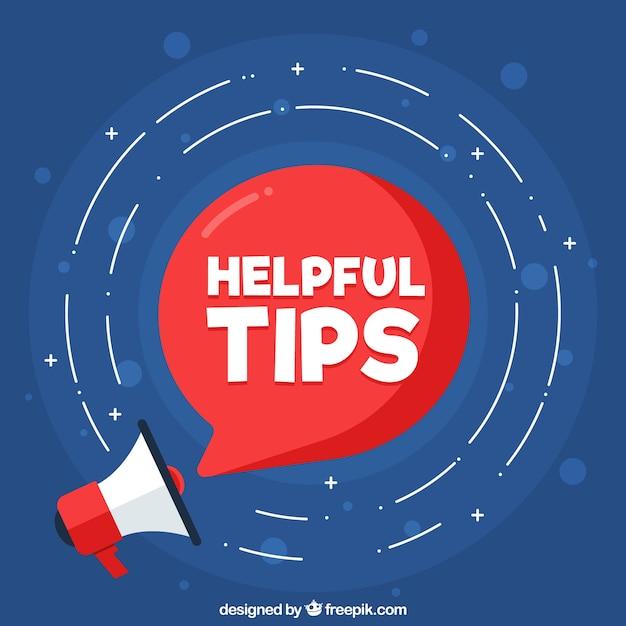 Handige tips samenstelling met platte ontwerp Gratis Vector