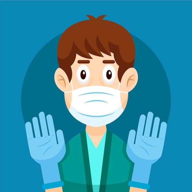 Handschoenen ter bescherming illustratie Gratis Vector