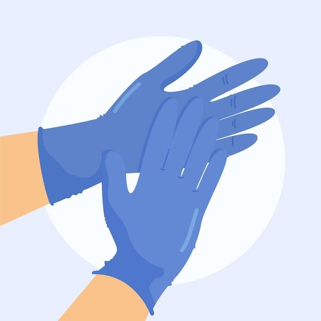 Handschoenen ter bescherming Gratis Vector