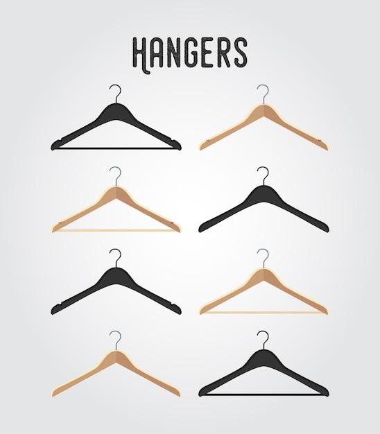 Hanger collectie Premium Vector
