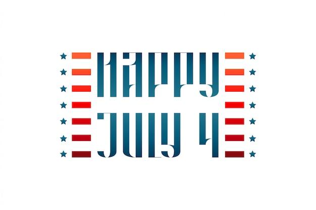 Happy 4 juli middeleeuwse traditionele letters Premium Vector