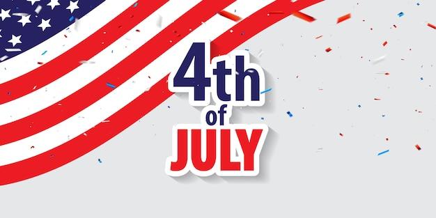 Happy 4 juli vakantie. Premium Vector