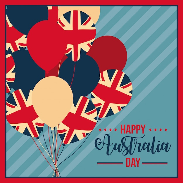 Happy australia day celebration Gratis Vector