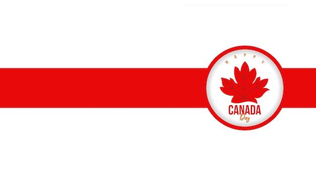 Happy canada day achtergrond Premium Vector