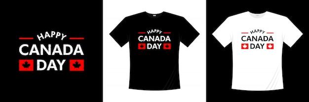 Happy canada day typografie t-shirt design Premium Vector