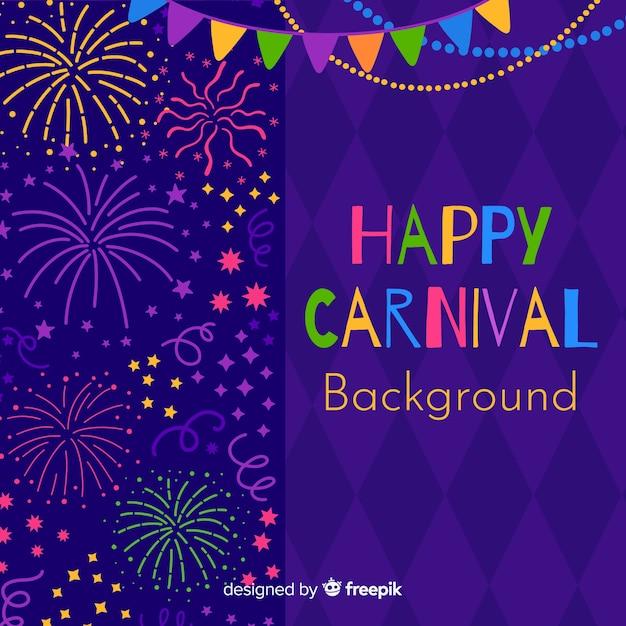 Happy carnaval achtergrond Gratis Vector