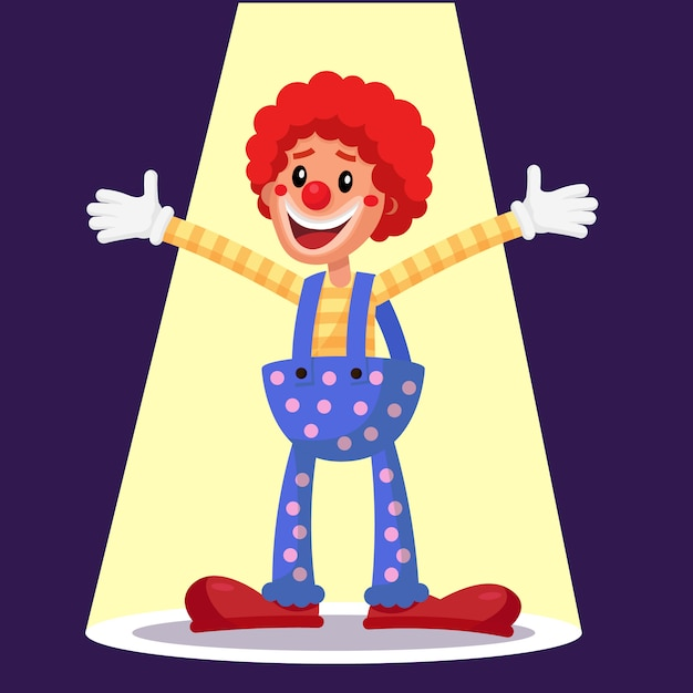 Happy clown. Premium Vector
