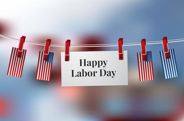 Happy dag van de arbeid banner. ontwerpsjabloon. vector illustratie Premium Vector