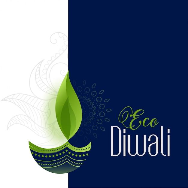 Happy eco en veilige diwali Gratis Vector