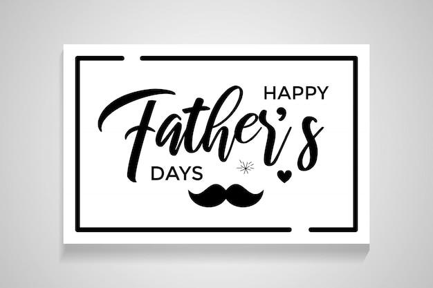 Happy father's day kalligrafie wenskaart Premium Vector