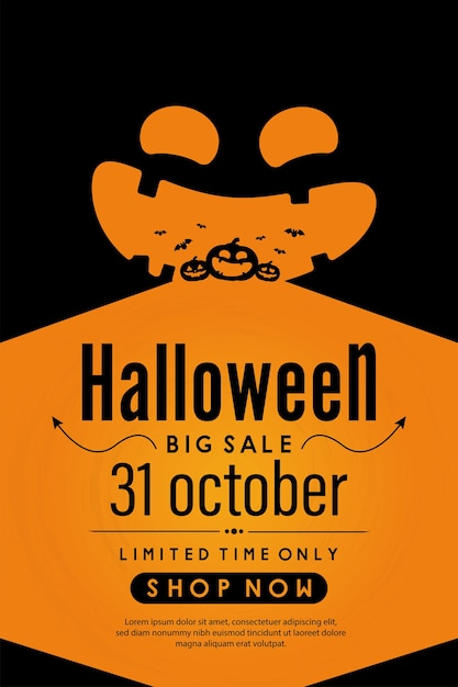 Happy halloween day banner ontwerp. Premium Vector
