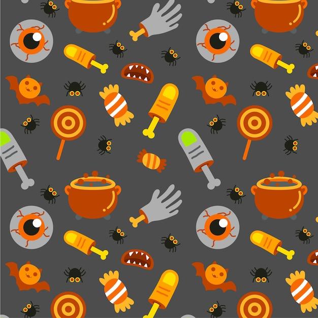 Happy halloween-patroonvector. Premium Vector