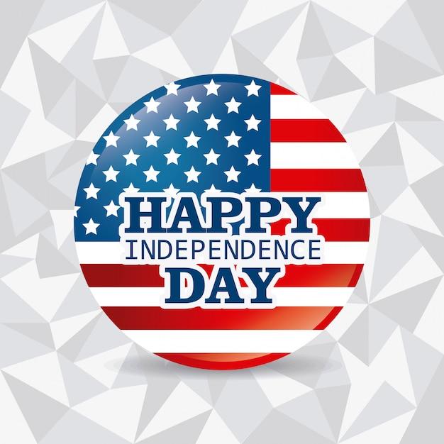 Happy independence day 4 juli usa ontwerp Gratis Vector