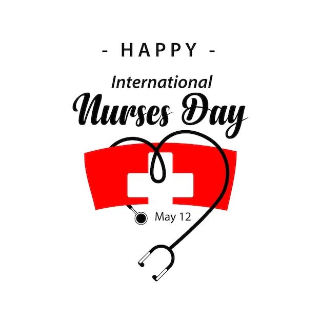 Happy international nurses day vector sjabloonontwerp Premium Vector