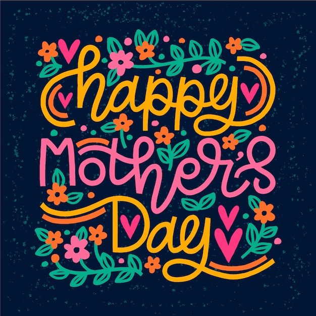Happy mothers day bericht Premium Vector