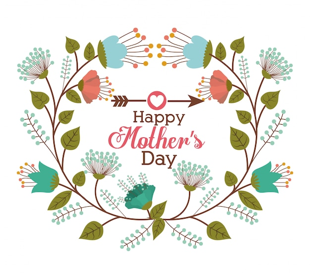 Happy mothers day design Premium Vector