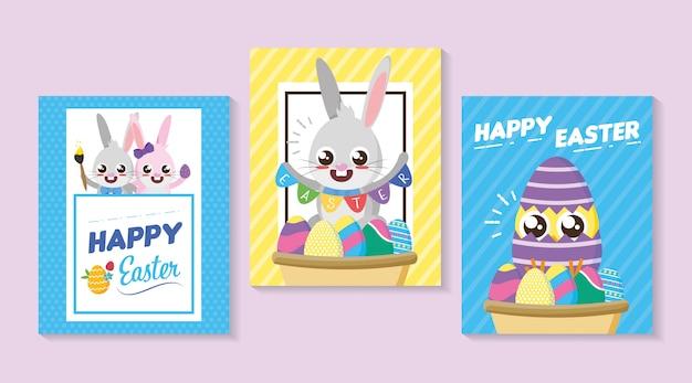 Happy paaskaart Gratis Vector