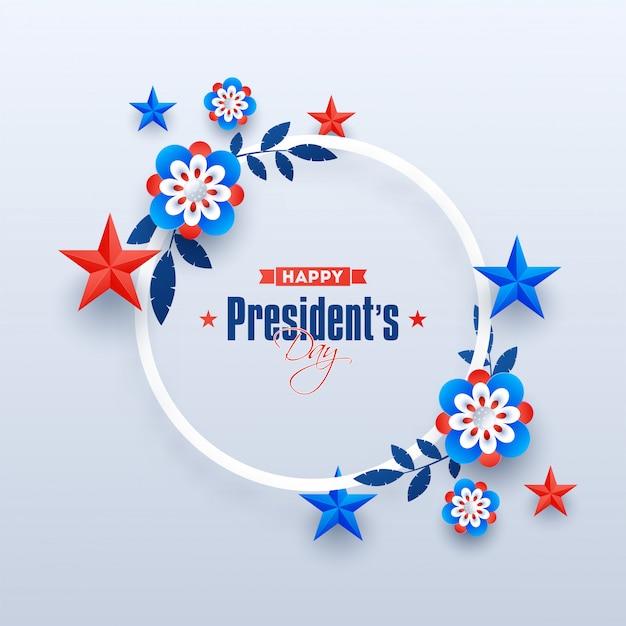 Happy president day achtergrond. Premium Vector