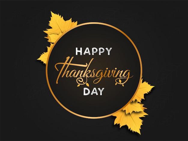 Happy thanksgiving achtergrond. Premium Vector