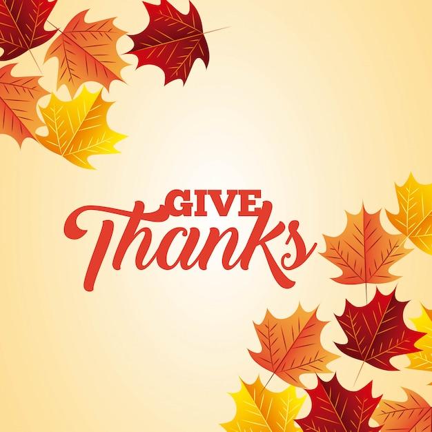 Happy thanksgiving achtergrond Gratis Vector