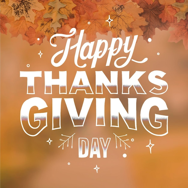 Happy thanksgiving belettering Premium Vector