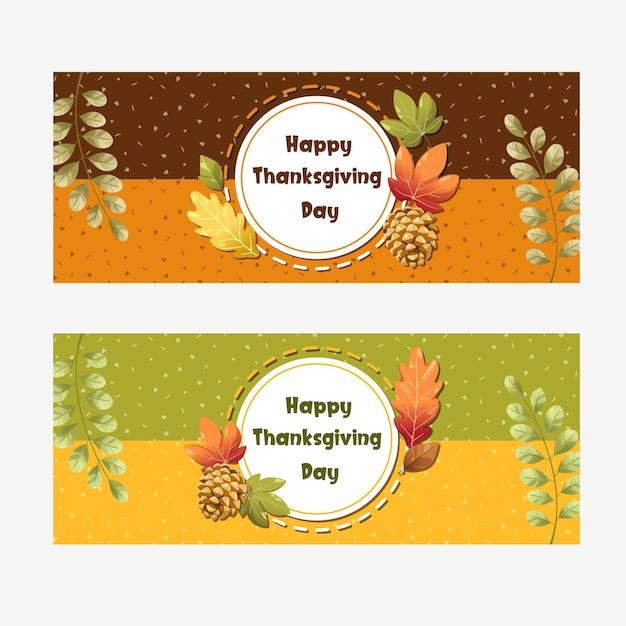 Happy thanksgiving day-kaart met pompoen, appel, maïs en esdoornbladeren Gratis Vector