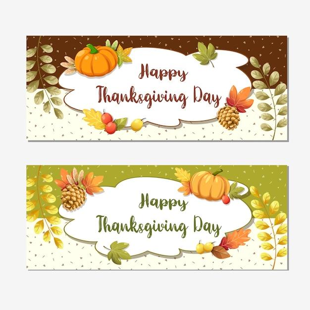 Happy thanksgiving day-kaart of flyer met walnoot Gratis Vector