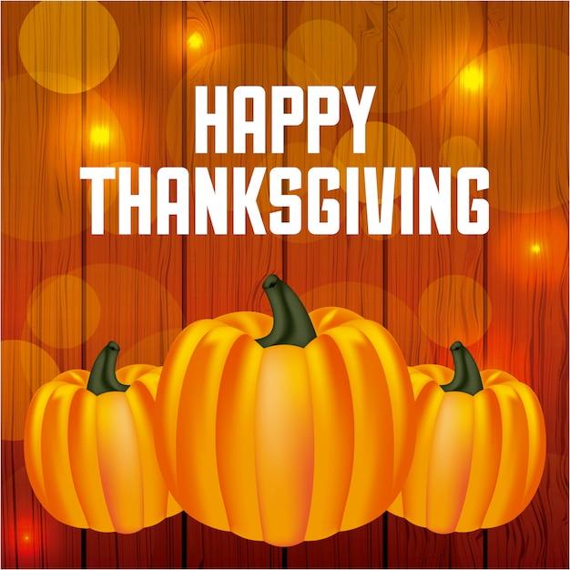 Happy thanksgiving day wenskaart Gratis Vector