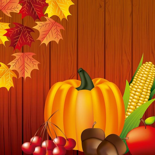 Happy thanksgiving-feest Gratis Vector