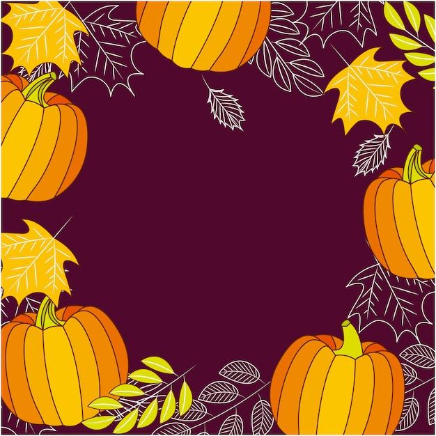 Happy thanksgiving frame achtergrond Gratis Vector