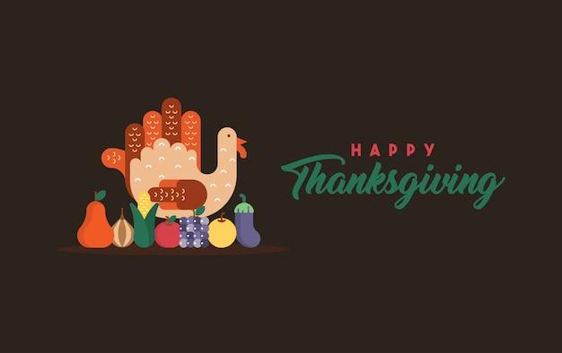 Happy thanksgiving illustratie Premium Vector