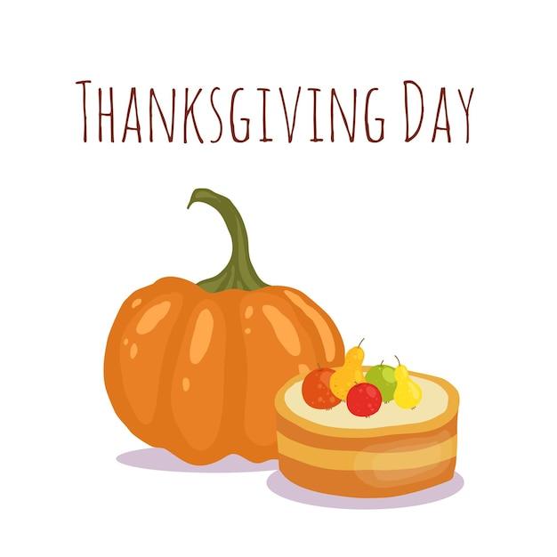 Happy thanksgiving's day-kaartontwerp Premium Vector