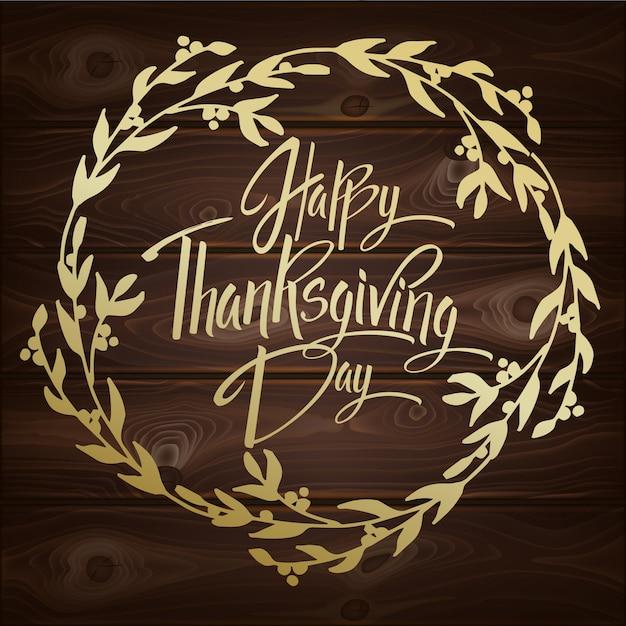 Happy thanskgiving day-wenskaart Premium Vector