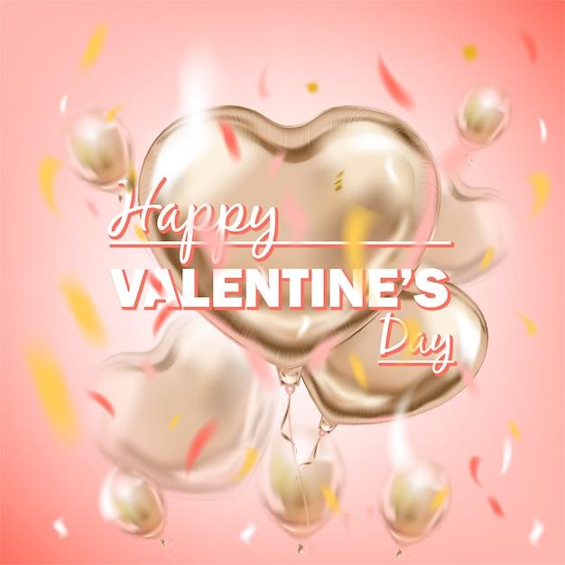 Happy valentijnsdag belettering Premium Vector
