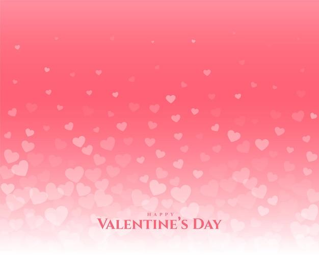 Happy valentijnsdag drijvende harten groet ontwerp Gratis Vector