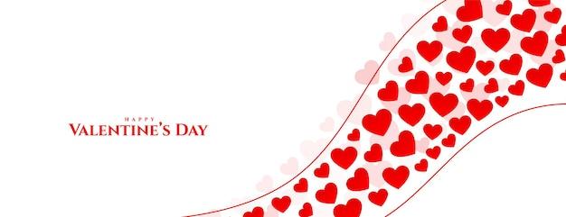 Happy valentijnsdag harten groet ontwerp van de banner Gratis Vector