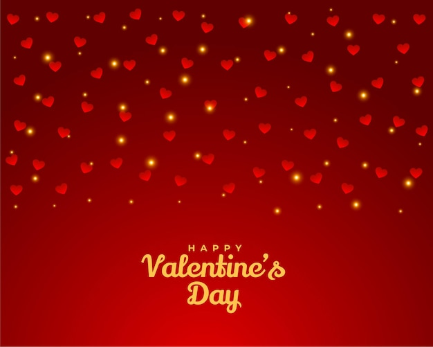 Happy valentijnsdag harten wenskaart ontwerp achtergrond Gratis Vector