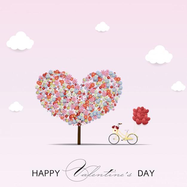 Happy valentijnsdag vector ontwerp. Premium Vector